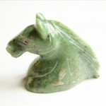Green Quartz Carved Horse Head