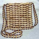 Shoulder Bag Made with Wood Pieces & Seeds