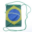 Shoulder Bag with Brazilian Flag Design