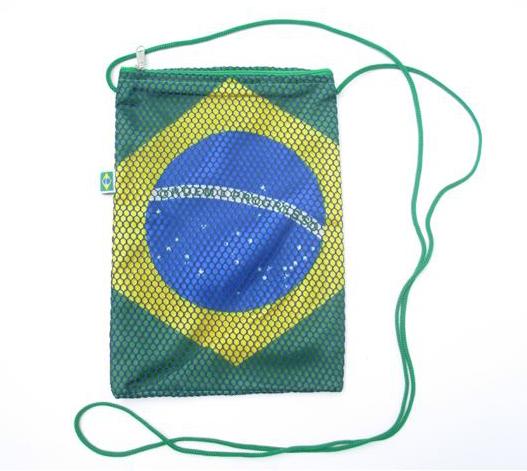 Shoulder Bag with Brazilian Flag Design