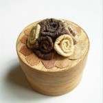 Wood Miniature Box Flower