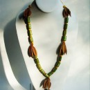 Long Necklace Made with Bambu & Açai Seeds