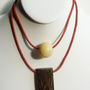 Short Necklace Made with Amazon (Jarina) Seed & Wood