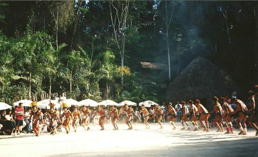 Below are the pictures of a small version of this ceremony when    Xingu Tribes