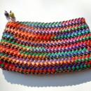 Natural Fiber Woven Hand Purse (with zipper)