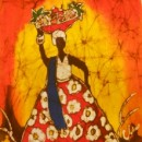 Batik of Bahia Lady with Fruits