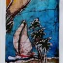 Batik of Beach Scene by Cleo