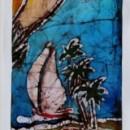 Batik of Beach Scene by Cleo