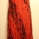 Casual Summer Dress - Sleeve/Orange&Black