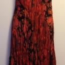 Casual Summer Dress - Sleeveless/Orange