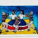 Batik - Dancers (Blue) by Cleo