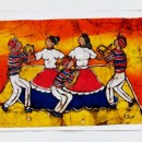 Batik - Dancers (Orange) by Cleo