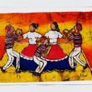 Batik - Dancers (Orange) by Cleo