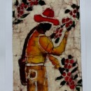 Batik of Coffee Farmer by Cleo