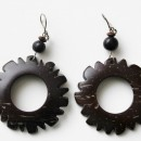 Earrings - Coconut Shell/Round Shape
