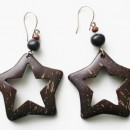 Star Shape - Coconut Shell Earrings