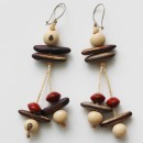 Earrings - Açaí & Various Seeds