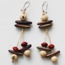 Earrings - Açaí & Various Seeds